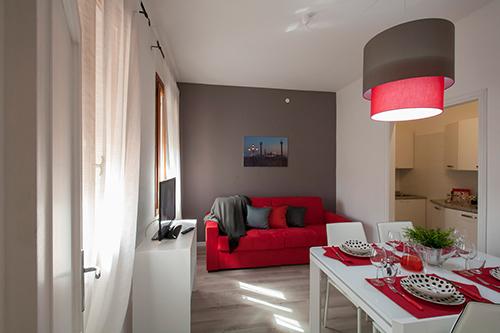 Al MiragGio Venice Apartment - Sala da pranzo e salotto